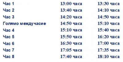 Промяна в график на учебни занятия 04.06.2021 г. - Изображение 1